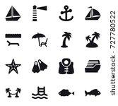 16 vector icon set   boat ... | Shutterstock .eps vector #727780522