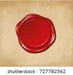 vector wax seal. | Shutterstock .eps vector #727782562
