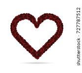 coffee bean heart art... | Shutterstock .eps vector #727787512