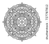 mandala. black and white... | Shutterstock .eps vector #727787812