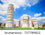 beautiful view of leaning tower ... | Shutterstock . vector #727789822