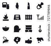 16 vector icon set   scales... | Shutterstock .eps vector #727789846