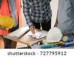 group of engineer designer or... | Shutterstock . vector #727795912