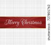 vector christmas red ribbon...   Shutterstock .eps vector #727801762