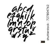 alphabet letters.black... | Shutterstock .eps vector #727804762