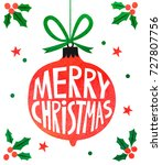 christmas watercolor card | Shutterstock . vector #727807756