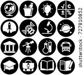 set of simple icons on a theme... | Shutterstock .eps vector #727810852