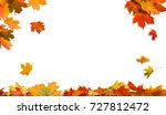 autumn falling maple leaves... | Shutterstock . vector #727812472