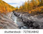 mountain river with a stony... | Shutterstock . vector #727814842