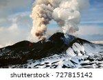 tolbachik volcano eruption... | Shutterstock . vector #727815142