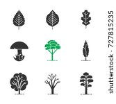 trees glyph icons set.... | Shutterstock . vector #727815235