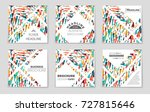 abstract vector layout... | Shutterstock .eps vector #727815646