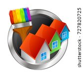 painting houses and buildings... | Shutterstock .eps vector #727820725