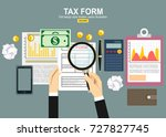 tax payment concept. state... | Shutterstock .eps vector #727827745