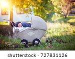 little newborn baby boy ...   Shutterstock . vector #727831126