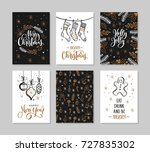 set christmas and happy new... | Shutterstock .eps vector #727835302