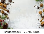 ingredients for christmas... | Shutterstock . vector #727837306