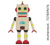 vector illustration of a toy... | Shutterstock .eps vector #727839676