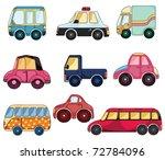 cartoon car icon   Shutterstock .eps vector #72784096