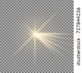 light with a glare on... | Shutterstock .eps vector #727844236