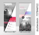 business roll up design... | Shutterstock .eps vector #727846912
