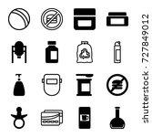 plastic icons set. set of 16... | Shutterstock .eps vector #727849012
