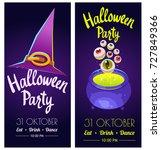 set with halloween labels.... | Shutterstock .eps vector #727849366