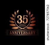 35 years anniversary logo... | Shutterstock .eps vector #727857562