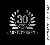30 years anniversary logo... | Shutterstock .eps vector #727857685