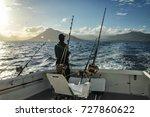 fishing in the ocean. saltwater ... | Shutterstock . vector #727860622