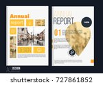 vector brochure cover templates ... | Shutterstock .eps vector #727861852