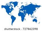 world map. | Shutterstock .eps vector #727862398