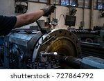 close up hand  heavy industrial ... | Shutterstock . vector #727864792