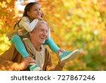 portrait of happy grandfather... | Shutterstock . vector #727867246