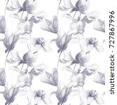 seamless wallpaper with summer... | Shutterstock . vector #727867996