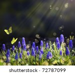 Stock photo spring flowering meadows 72787099