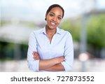 beautiful african american... | Shutterstock . vector #727873552
