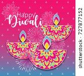 diwali festival greeting card... | Shutterstock .eps vector #727877152
