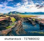 impressive icelandic landscape...   Shutterstock . vector #727880032