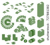money icons. flat vector... | Shutterstock .eps vector #727881382