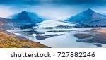 melting ice from vatnajokull...   Shutterstock . vector #727882246