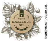 Hazelnut Oil Paper Label Over...