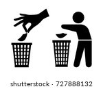throwing garbage icons. tidy... | Shutterstock .eps vector #727888132