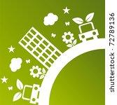 green ecological illustration | Shutterstock .eps vector #72789136