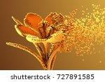 Gold Digital Flower...