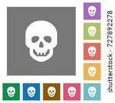 human skull flat icons on... | Shutterstock .eps vector #727892278