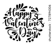 lettering happy valentine's day ... | Shutterstock .eps vector #727894306