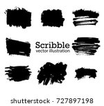 hand drawn scribble symbols... | Shutterstock .eps vector #727897198