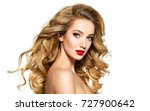 portrait of the blonde woman... | Shutterstock . vector #727900642
