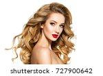 portrait of the blonde woman... | Shutterstock . vector #727900642